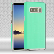 Haptic Football Textured Anti-Slip Hybrid Armor Case for Samsung Galaxy Note 8 - Teal Green