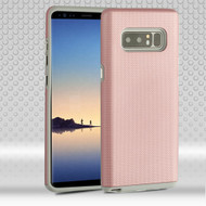Haptic Football Textured Anti-Slip Hybrid Armor Case for Samsung Galaxy Note 8 - Rose Gold
