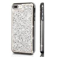 TUFF Contempo Crystal Desire Hybrid Diamond Case for iPhone 8 Plus / 7 Plus - Silver