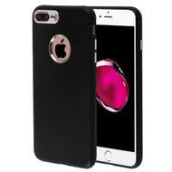 Premium TPU Case with Electroplating Accents for iPhone 8 Plus / 7 Plus - Black