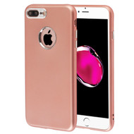 Premium TPU Case with Electroplating Accents for iPhone 8 Plus / 7 Plus - Rose Gold