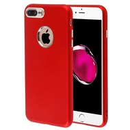 Premium TPU Case with Electroplating Accents for iPhone 8 Plus / 7 Plus - Red