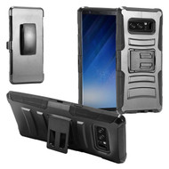 Advanced Armor Hybrid Kickstand Case with Holster Belt Clip for Samsung Galaxy Note 8 - Black