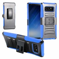*Sale* Advanced Armor Hybrid Kickstand Case with Holster Belt Clip for Samsung Galaxy Note 8 - Black Blue