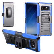 Advanced Armor Hybrid Kickstand Case with Holster Belt Clip for Samsung Galaxy Note 8 - Black Blue