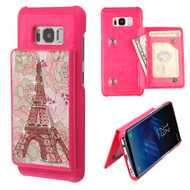 Pocket Wallet Case with Stand for Samsung Galaxy S8 Plus - Eiffel Tower