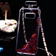 Perfume Bottle Quicksand Glitter Case for Samsung Galaxy S8 Plus - Magenta