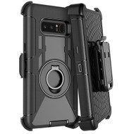 Anti-Shock Hybrid Case with Holster for Samsung Galaxy Note 8 - Black