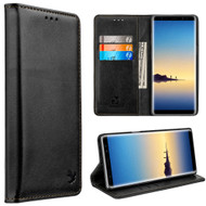 2-IN-1 Luxury Magnetic Leather Wallet Case for Samsung Galaxy Note 8 - Black