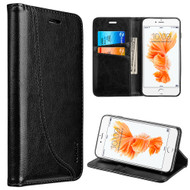Dynamic Leather Wallet Case for iPhone 8 / 7 - Black