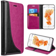 Dynamic Leather Wallet Case for iPhone 8 / 7 - Hot Pink