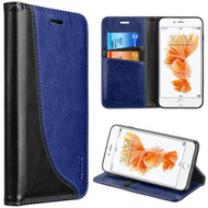 Dynamic Leather Wallet Case for iPhone 8 / 7 - Navy Blue