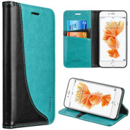 Dynamic Leather Wallet Case for iPhone 8 / 7 - Teal