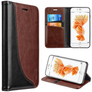 Dynamic Leather Wallet Case for iPhone 8 Plus / 7 Plus - Brown