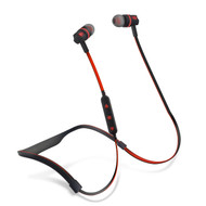 HyperGear Flex 2 Bluetooth Wireless Noise Isolating Sports Headphones - Black Red