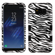 Military Grade Certified TUFF Image Hybrid Armor Case for Samsung Galaxy S8 Plus - Zebra