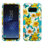 Military Grade Certified TUFF Image Hybrid Armor Case for Samsung Galaxy S8 Plus - Spring Daffodils