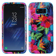 Military Grade Certified TUFF Image Hybrid Armor Case for Samsung Galaxy S8 Plus - Electric Hibiscus
