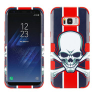 Military Grade Certified TUFF Image Hybrid Armor Case for Samsung Galaxy S8 Plus - Union Jack Skull