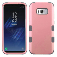 Military Grade Certified TUFF Hybrid Armor Case for Samsung Galaxy S8 Plus - Pearl Pink Grey
