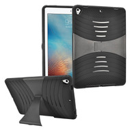 Shockproof Hybrid Armor Case with Stand for iPad (2017) - Black