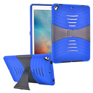 Shockproof Hybrid Armor Case with Stand for iPad (2017) - Blue
