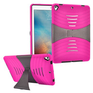 Shockproof Hybrid Armor Case with Stand for iPad (2017) - Hot Pink