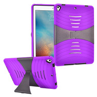 Shockproof Hybrid Armor Case with Stand for iPad (2017) - Purple