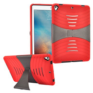 Shockproof Hybrid Armor Case with Stand for iPad (2017) - Red