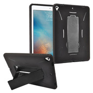 Dual Layer Hybrid Armor Case with Stand for iPad (2017) - Black