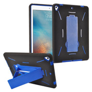 Dual Layer Hybrid Armor Case with Stand for iPad (2018/2017) - Blue