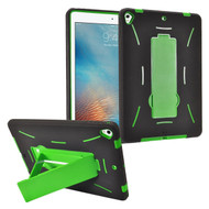 Dual Layer Hybrid Armor Case with Stand for iPad (2017) - Green