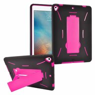 *Sale* Dual Layer Hybrid Armor Case with Stand for iPad (2017) - Hot Pink
