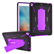 Dual Layer Hybrid Armor Case with Stand for iPad (2017) - Purple