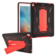 Dual Layer Hybrid Armor Case with Stand for iPad (2018/2017) - Red