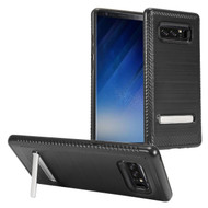 *Sale* Brushed Multi-Layer Hybrid Armor Case with Kickstand for Samsung Galaxy Note 8 - Black