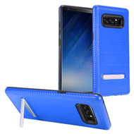*Sale* Brushed Multi-Layer Hybrid Armor Case with Kickstand for Samsung Galaxy Note 8 - Blue