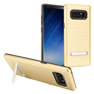 *Sale* Brushed Multi-Layer Hybrid Armor Case with Kickstand for Samsung Galaxy Note 8 - Gold