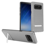 *Sale* Brushed Multi-Layer Hybrid Armor Case with Kickstand for Samsung Galaxy Note 8 - Grey