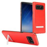 Brushed Multi-Layer Hybrid Armor Case with Kickstand for Samsung Galaxy Note 8 - Red