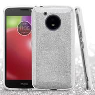 *Sale* Full Glitter Hybrid Protective Case for Motorola Moto E4 - Silver