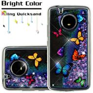 Quicksand Glitter Transparent Case for Motorola Moto E4 - Butterfly Dancing