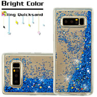 Quicksand Glitter Transparent Case for Samsung Galaxy Note 8 - Blue