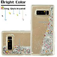 *Sale* Quicksand Glitter Transparent Case for Samsung Galaxy Note 8 - Silver
