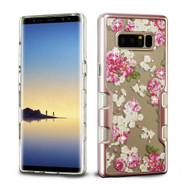 TUFF Panoview Transparent Hybrid Diamond Case for Samsung Galaxy Note 8 - European Rose