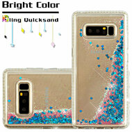 Diamond Quicksand Glitter Transparent Case for Samsung Galaxy Note 8 - Blue