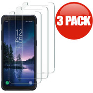 *SALE* HD Premium Round Edge Tempered Glass Screen Protector for Samsung Galaxy S8 Active - 3 Pack