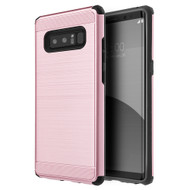 Brushed Texture Armor Anti Shock Hybrid Case for Samsung Galaxy Note 8 - Rose Gold