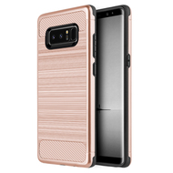 *Sale* Carbon Tech Premium Brushed TPU Case for Samsung Galaxy Note 8 - Rose Gold