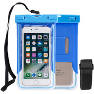 Stay Dry Waterproof Case with Armband and Lanyard - Blue